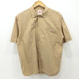 【中古】DANTON ダントン シャツ 半袖 18SS JD-3609 サイズ:40 カラー:ベージュ / インポート【f102】