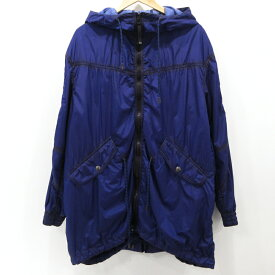 【中古】DIESEL BLACK GOLD|ディーゼルブラックゴールド ナイロンジャケット コート サイズ:48 カラー:ブルー系 / インポート【f094】