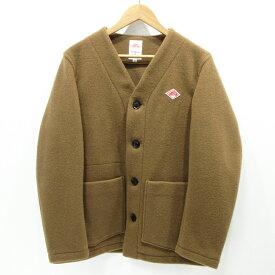 【中古】DANTON|ダントン ウールモッサー ノーカラー ジャケット JD-8904 WOM サイズ:40 / インポート【f094】