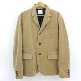 【中古】BLANCK ブランク コーデュロイセットアップスーツ ベージュ サイズ:M(34inch)【f096】