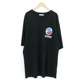 【中古】Gosha Rubchinskiy|ゴーシャラブチンスキー DJ Oversize T-Shirt プリント オーバーサイズ 半袖Tシャツ ブラック サイズ:L【f108】
