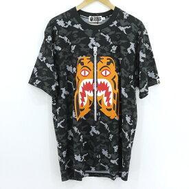 【中古】A BATHING APE|アベイシングエイプ BAPE Digital Camo Tiger Tee 半袖Tシャツ ブラック サイズ:XL【f103】