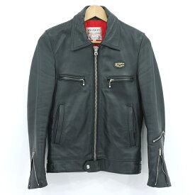 【中古】Lewis Leathers ルイスレザー ドミネーター シングルライダースジャケット レザージャケット ブラック サイズ:32【f093】
