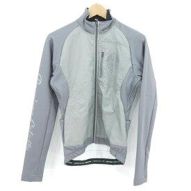 【中古】Bianchi|ビアンキ ソリッドジャケット サイクルジャージ サイクルウェア グレー サイズ:XS【f443】