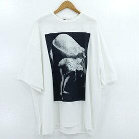 【中古】LAD MUSICIAN|ラッドミュージシャン SUPER BIG T-SHIRT 半袖Tシャツ オーバーサイズ 2120-831 ホワイト サイズ:F【f104】