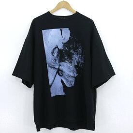 【中古】LAD MUSICIAN|ラッドミュージシャン SUPER BIG T-SHIRT 半袖Tシャツ オーバーサイズ 2120-834 ブラック サイズ:F【f104】