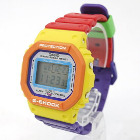 【中古】CASIO|カシオ SPECIAL COLOR Psychedelic Multi Colors G-SHOCK 腕時計 デジタルクォーツ DW-5610DN-9JF 文字盤:ホワイト ベルト:レッド×パープル【f131】