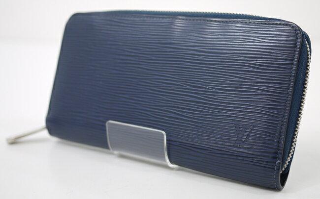 【中古】LOUIS VUITTON/ルイ・ヴィトン M60307/- エピ(アンディゴブルー) ジッピーウォレット ラウンドファスナー長財布