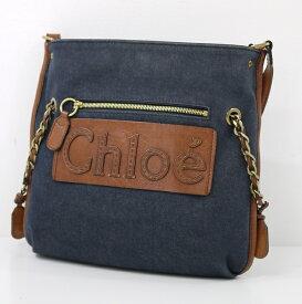 【中古】Chloe/クロエ - - デニムショルダーバッグ