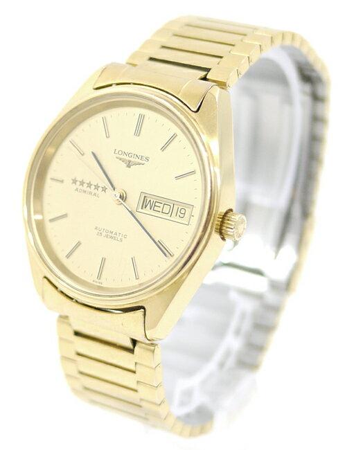 【中古】LONGINES/ロンジン ADMIRAL/アドミラル 腕時計 L7 634 2 ゴールド×ゴールド 自動巻き(オートマチック) ステンレススティールベルト