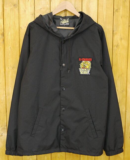 【中古】Hi-STANDARD/ハイスタンダード フード付きコーチジャケット サイズ:L カラー:ブラック