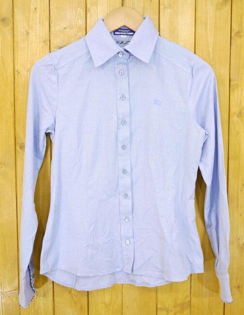 【中古】BURBERRY BLUE LABEL/バーバリー・ブルーレーベル 長袖シャツ サイズ:38 カラー:ブルー