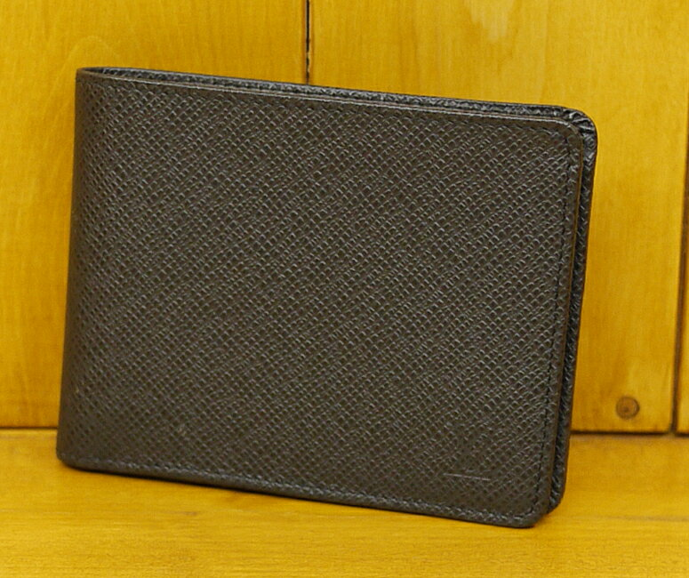 【中古】LOUIS VUITTON/ルイ・ヴィトン M30952/SP0165 タイガ(アルドワーズ) ポルトフォイユ・ミュルティプル 二つ折り札入れ/財布【f125】