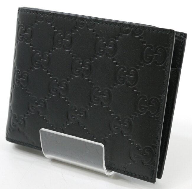 【中古】GUCCI/グッチ 146226 グッチシマ 二つ折り財布【f125】