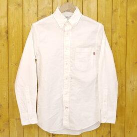 【中古】S/DOUBLE/エスダブル 長袖ボタンダウンシャツ サイズ:XS カラー:ホワイト【f103】
