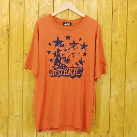 【中古】HYSTERIC GLAMOUR/ヒステリックグラマー 半袖Tシャツ サイズ:S カラー:オレンジ【f104】