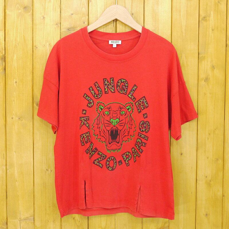 【中古】KENZO/ケンゾー JUNGLE TIGER T-SHIRT 半袖Tシャツ サイズ:L カラー:レッド【f112】