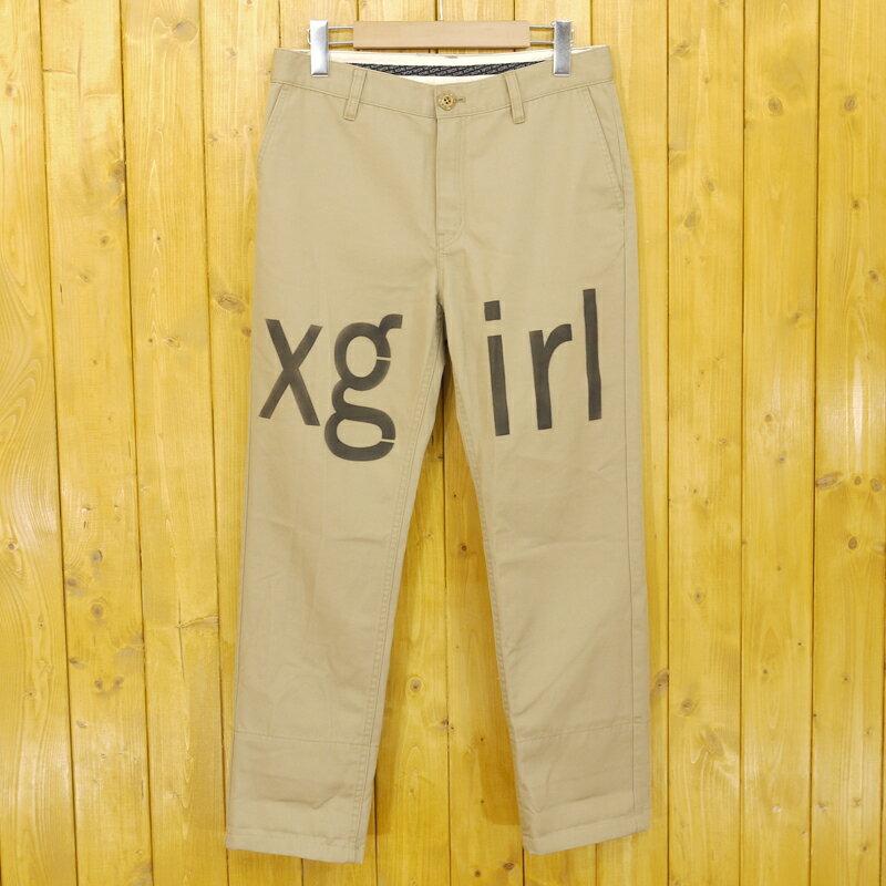 【中古】X-girl×Dickies/エックスガール×ディッキーズ パンツ サイズ:1 カラー:ベージュ【f112】