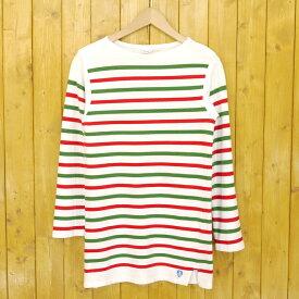【中古】ORCIVAL/オーシバル 長袖ボーダーTシャツ サイズ:2 カラー:グリーン×レッド【f102】