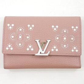 【中古】LOUIS VUITTON/ルイ・ヴィトン ポルトフォイユカプシーヌコンパクト 三つ折財布 サイズ:- カラー:ピンク系【f125】