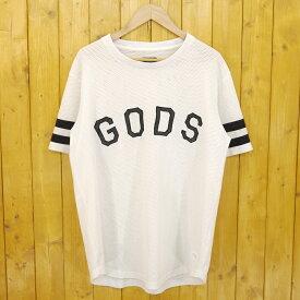 【中古】STAMPD/スタンプド White Gods Jersey メッシュTシャツ サイズ:L カラー:ホワイト【f103】