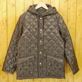 【中古】Traditional Weatherwear/トラディショナルウェザーウェア NORWICH フーデッドキルティングブルゾン ジャケット サイズ:36 カラー:ブラウン系【f094】