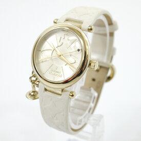 【中古】Vivienne Westwood/ヴィヴィアンウエストウッド 腕時計 ORB II オーブ VV006WHWH クォーツ 革(レザー)ベルト カラー:ホワイト系【f131】