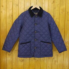 【中古】LAVENHAM/ラベンハム キルティングジャケット サイズ:S カラー:ネイビー系【f094】