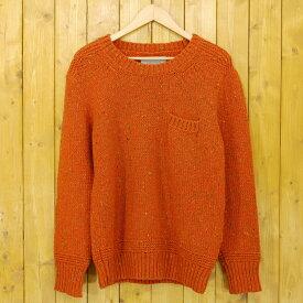 【中古】MARKAWARE/マーカウェア ニット セーター パッチ サイズ:2 カラー:オレンジ【f104】