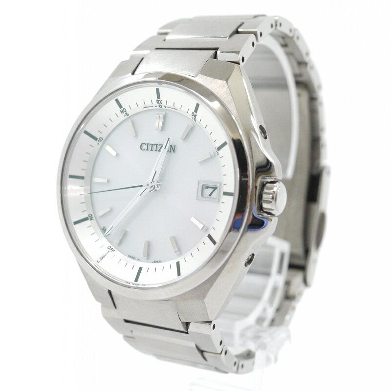 【中古】CITIZEN/シチズン 腕時計 ATTESA Eco-Drive DIRECT FLIGHT アテッサ エコドライブ ダイレクトフライト CB3010-57A ワールドタイム電波時計 チタンベルト カラー:ホワイト×シルバー【f131】