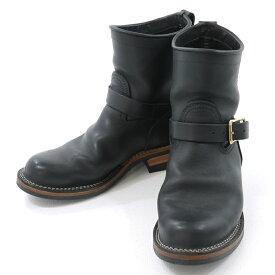 【中古】VIBERG BOOTS×/ヴァイバーブーツ×スケアクロウ エンジニアブーツ サイズ:8・1/2 カラー:ブラック【f127】