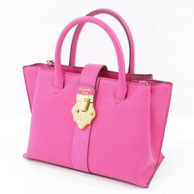 【中古】Samantha Vega/サマンサベガ ハンドバッグ <ショルダーストラップ欠品> サイズ:- カラー:ピンク【f121】