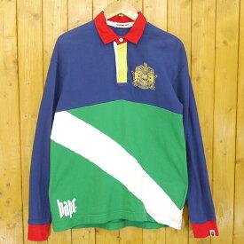 【中古】A BATHING APE/アベイシングエイプ ラガーシャツ サイズ:XL カラー:ブルー・グリーン【f103】