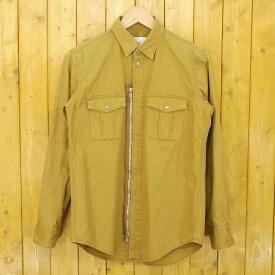【中古】The Letters/レターズ 2017SS Military Ventile Zip Shirt ベンタイル ミリタリージップシャツ サイズ:S カラー:カーキ系【f104】