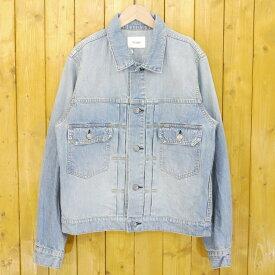 【中古】The Letters/レターズ 2017SS 2nd Washed Denim Jacket ウォッシュデニムジャケット サイズ:M カラー:ブルー【f096】