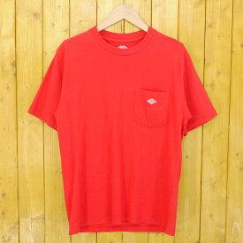【中古】DANTON/ダントン クルーネックポケットTシャツ サイズ:38 カラー:レッド【f102】