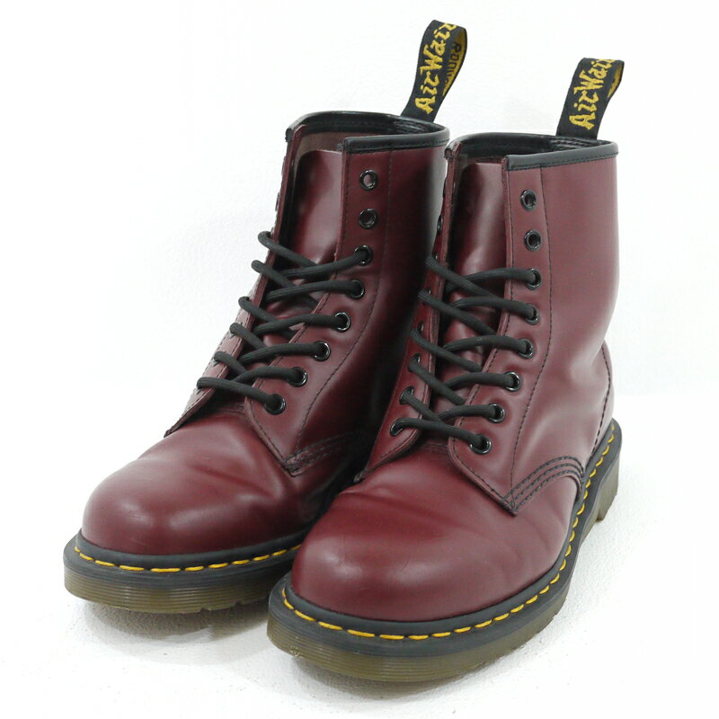 【中古】Dr.Martens/ドクターマーチン 8ホールブーツ 1460 CHERRY RED SMOOTH サイズ:UK7 カラー:レッド系(チェリーレッド)【f127】
