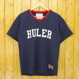 【中古】RULER/ルーラー BASEBALL JERSEY ベースボールTシャツ ジャージ サイズ:M カラー:ネイビー【f103】