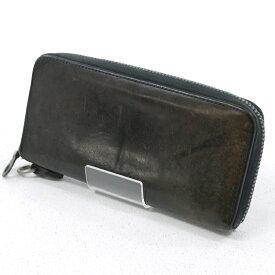 【中古】BACKLASH/バックラッシュ ラウンドファスナー長財布 ロングウォレット サイズ:- カラー:ブラック【f124】