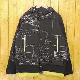 【中古】WHIZ LIMITED/ウィズリミテッド 2016AW MAP MOUNTAIN JACKET マウンテンパーカー ジャケット サイズ:L カラー:ブラック【f096】