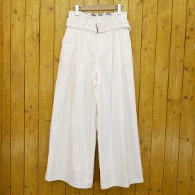 【中古】DICKIES×Spick & Span/ディッキーズ×スピック&スパン ワイドパンツ サイズ:38 カラー:ホワイト【f110】