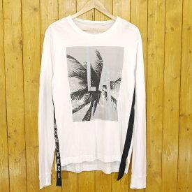 【中古】GUESS/ゲス L/S REFLECTIVE L.A. CREW TEE 長袖Tシャツ サイズ:M カラー:ホワイト【f102】