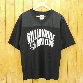 【中古】BILLIONAIRE BOYS CLUB/ビリオネアボーイズクラブ CURVE LOGO FOOTBALL JERSEY フットボールシャツ メッシュTシャツ サイズ:S カラー:ブラック【f103】