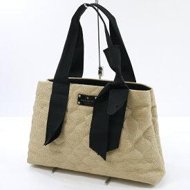 【中古】kate spade new york/ケイト・スペード ニューヨーク トートバッグ サイズ:- カラー:ベージュ×ブラック【f121】