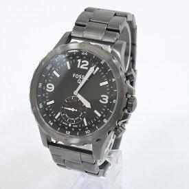 【中古】FOSSIL/フォッシル 腕時計 NATE スモークステンレススチール ハイブリッドスマートウォッチ FTW1160 クォーツ サイズ:- カラー:ブラック系【f131】