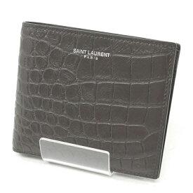【中古】SAINT LAURENT/サンローラン 2つ折り財布 小銭入れ付き サイズ:- カラー:ブラウン【f125】