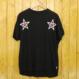 【中古】WHIZ LIMITED/ウィズリミテッド プリント 半袖 Tシャツ/カットソー サイズ:L カラー:ブラック【f104】