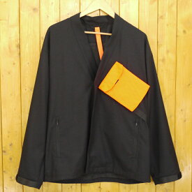 【中古】PORTVEL/ポートヴェル SAMUE 作務衣ジャケット サイズ:記載なし カラー:ブラック【f096】