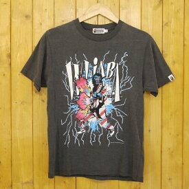 【中古】A BATHING APE/アベイシングエイプ WLIABA プリントTシャツ サイズ:S カラー:グレー【f103】