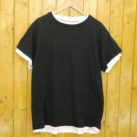 【中古】uniform experiment/ユニフォームエクスペリメント LAYERD TEE レイヤードTシャツ サイズ:1 カラー:ブラック【f103】